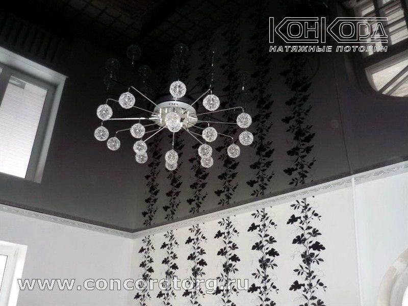 Фото натяжные потолки черного цвета