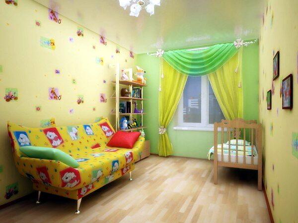 Дизайн натяжных потолков детской