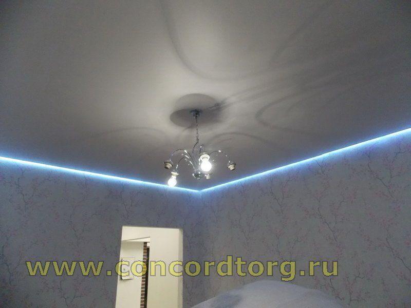 Натяжной потолок с подсветкой по периметру своими руками