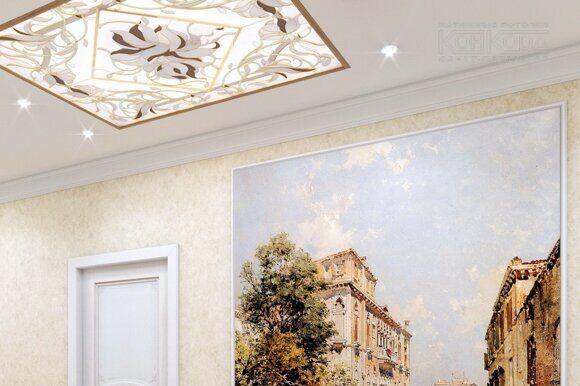 Световое фальш окно на потолке